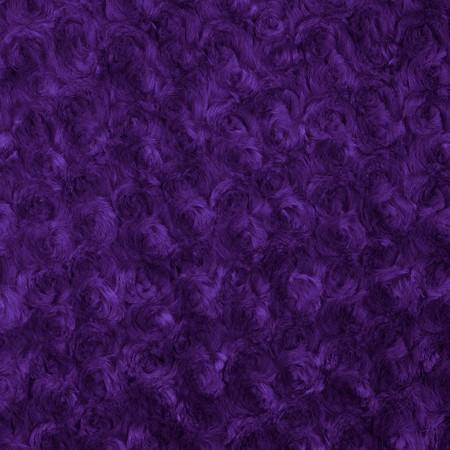 Purple Minky Rosebud Fabric