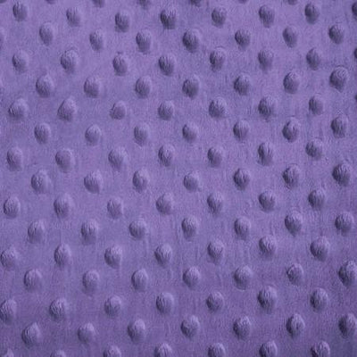 Purple Minky Dimple Dot Fabric