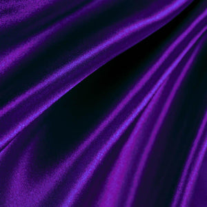 Purple Poly Satin Fabric / 50 Yards Roll