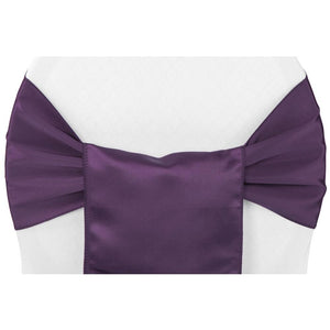 (12 Pack ) Purple Satin Sash