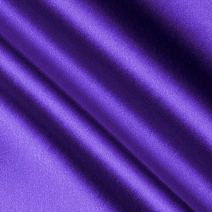 Violet Crepe Back Satin Fabric