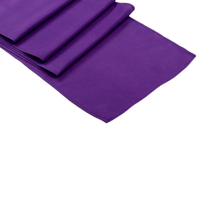 Purple Polyester Table Runner