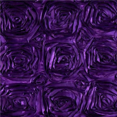 Rosette Satin Purple Fabric