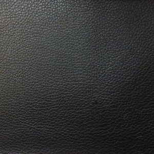 Black 1.2 mm Thickness Soft PVC Faux Leather Vinyl Fabric