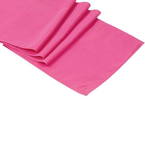 Fuchsia Polyester Table Runner