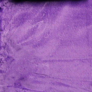 Puple Velboa Fur Solid Short Pile