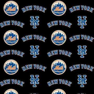 MLB New York Mets 100% Cotton Fabric