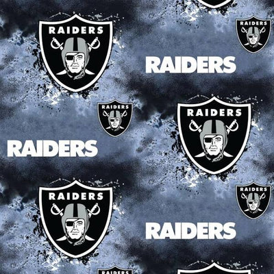 Oakland Raiders Tie Dyed NFL Fleece Fabric