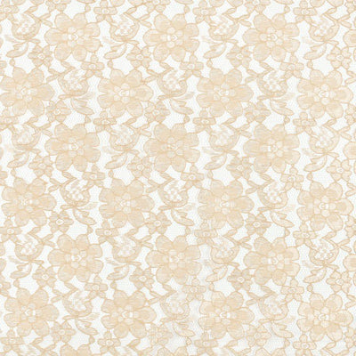 Champagne Floral Raschel Lace Fabric