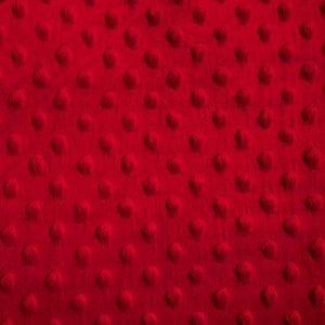 Red Minky Dimple Dot Fabric