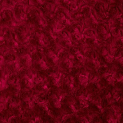 Red Minky Rosebud Fabric