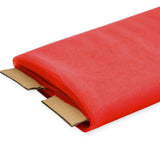 "Red Nylon Tulle Fabric, 54"" Inches Wide - 40 Yards By Roll"