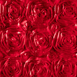 Rosette Satin Red Fabric