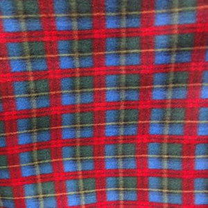Red Green Blue Plaid Anti Pill Plaid Fleece Fabric