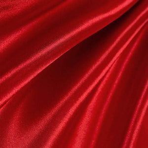 Red Poly Satin Fabric / 50 Yards Roll
