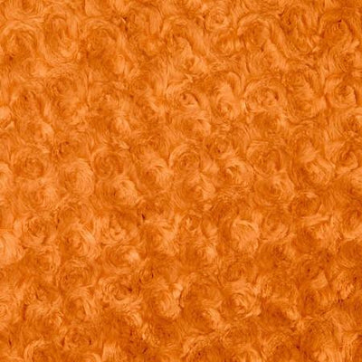 Orange Minky Rosebud Fabric