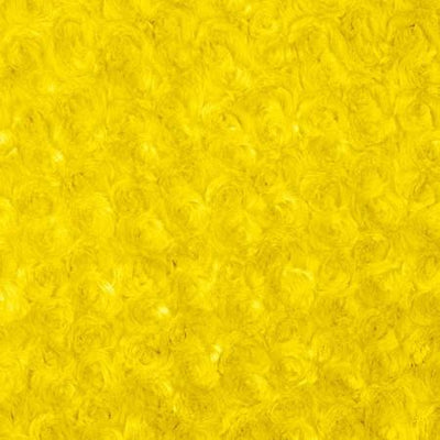 Yellow Minky Rosebud Fabric
