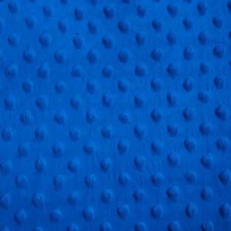 Royal Blue Minky Dimple Dot Fabric