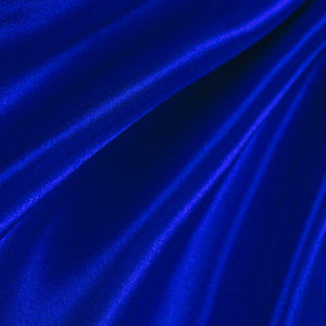 Royal Blue Poly Satin Fabric / 50 Yards Roll