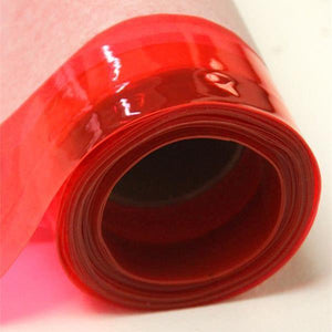 Red 12 Gauge Tinted Plastic Vinyl Fabric / 25 Yards Roll