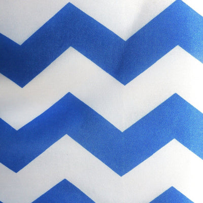 Waterproof Chevron White and Royal Blue Canvas Outdoor fabric