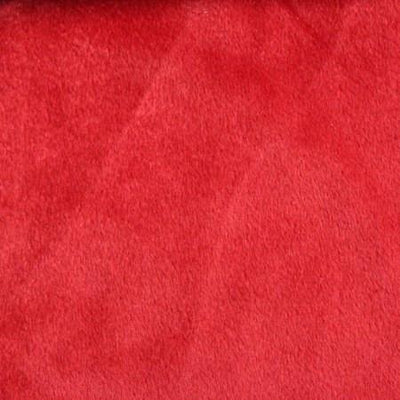 Red Velboa Fur Solid Short Pile