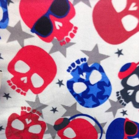 Rock Out Skulls Anti Pill Fleece Fabric