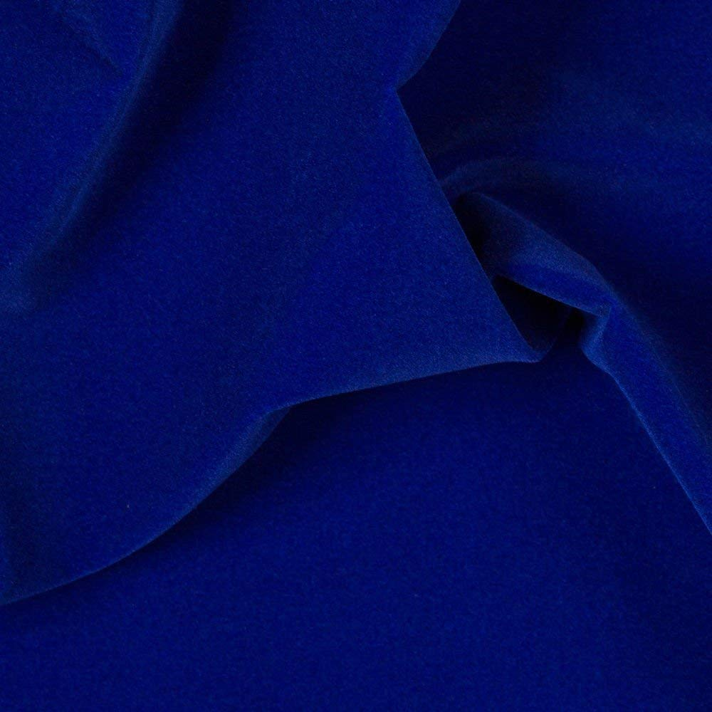 Royal Blue Upholstery Grade Flocking Velvet Fabric Ifabric