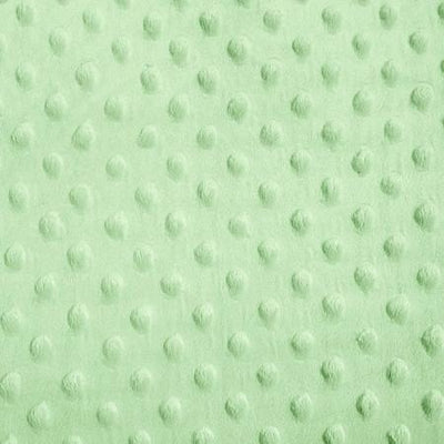 Sage Minky Dimple Dot Fabric
