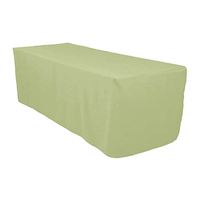 6 Ft Sage Fitted Polyester Rectangular Tablecloth