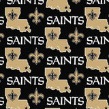 New Orleans Saints Solid NFL Fleece Fabric