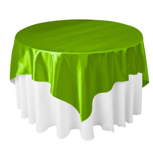 "Lime Satin Overlay Tablecloth 60"" x 60"""
