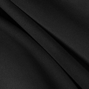 Black Solid Stretch Scuba Double Knit Fabric