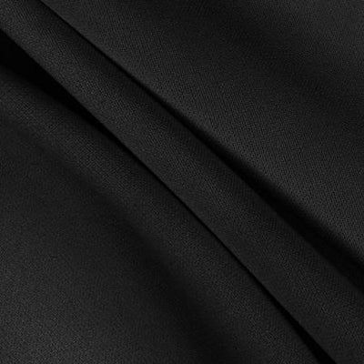 Black Solid Stretch Scuba Double Knit Fabric / 50 Yards Roll