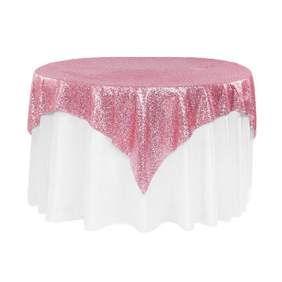 Pink Sequins Overlay Tablecloth 60