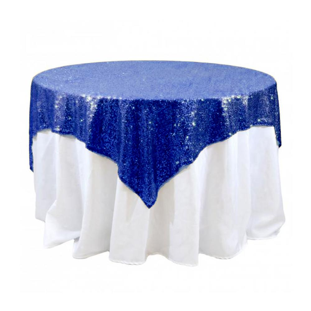 "Royal Sequins Overlay Tablecloth 60"" x 60"""