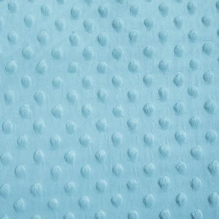 Sky Blue Minky Dimple Dot Fabric