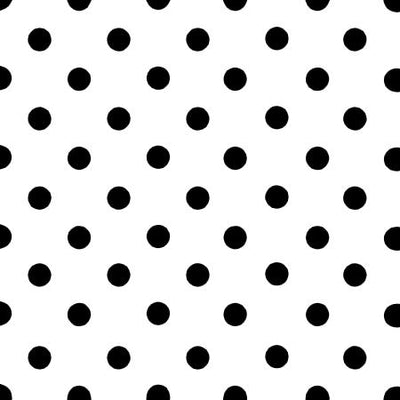 Small Black Dots on White Poly Cotton Fabric