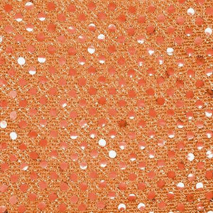Orange Small Confetti Dots Sequin