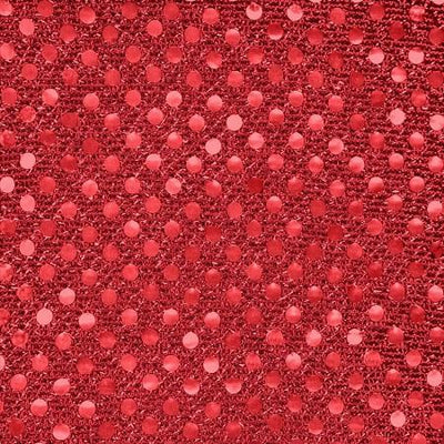 Red Small Confetti Dots Sequin