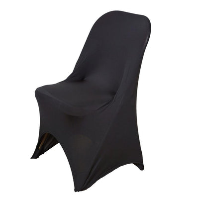 Black Polyester Spandex Banquet Wedding Party Chair Covers