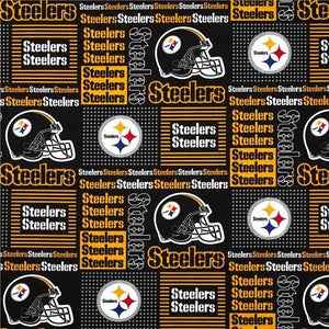 Pittsburgh Steelers NFL Patchwork 100% Cotton Print