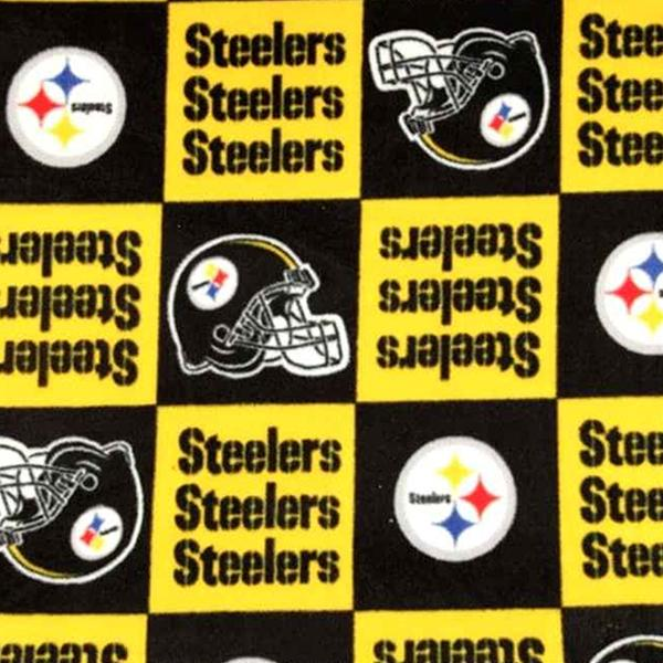 Pittsburgh Steelers Squares Premium NFL Fleece Fabric
