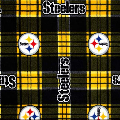 Pittsburgh Steelers Plaid Premium NFL Fleece Fabric