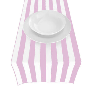 Pink Poly Cotton Stripe Runner