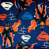Superman on Blue 100% Cotton Print Fabric