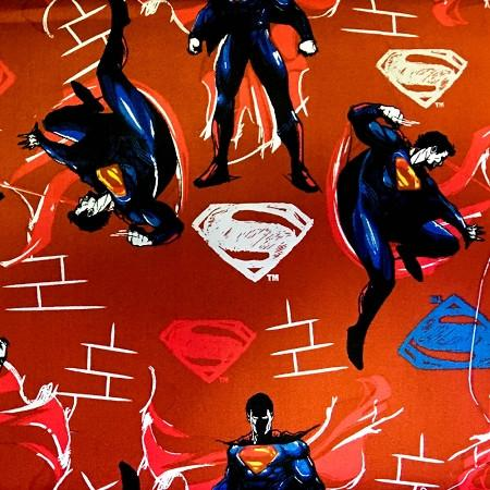 Superman on Red 100% Cotton Print Fabric