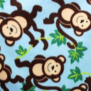 Monkey Vines Anti Pill Fleece Fabric