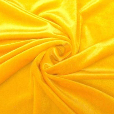 Yellow Stretch Velvet Fabric / 60 Yards Roll