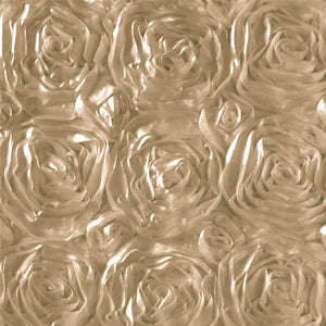 Rosette Satin Taupe Fabric